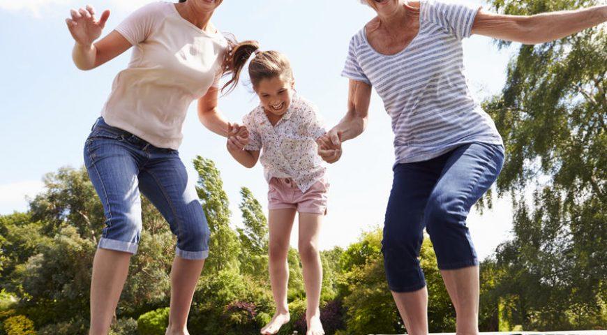 trampoline famille